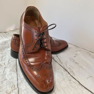 Monte Rosso Basel Wingtip Sz 10 Leather Italy Brwn